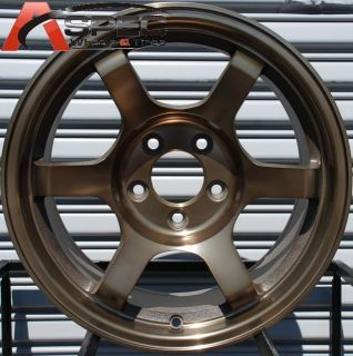 16X8 ROTA GRID OFFROAD WHEELS 4X100 RIMS ET10MM SPORT BRONZE 56.1MM
