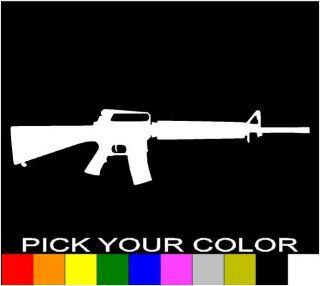 RIFLE DECAL STICKER VINYL CAR LAPTOP CELL WINDOW GUN .223 5.56 AR15