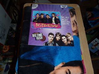 BIG TIME RUSH FLEECE BLANKET 46 X 60 MICRO RASCHEL THROW NICKELODEON