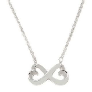 Newly listed STERLING SILVER INFINITY DOUBLE HEART NECKLACE