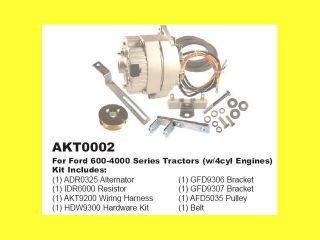 Ford 600 4000 Tractor Alternator Generator Conversion Kit