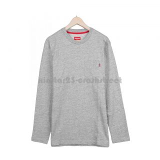 Supreme FW12 L/S Pocket Tee (grey) box logo camp cap hoodie sweater