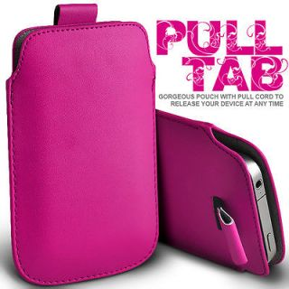 leather pull tab pouch skin case cover for nokia asha
