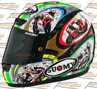 Suomy Apex Capirex Limited Capirossi 2012 Full Face Motorcycle Helmet