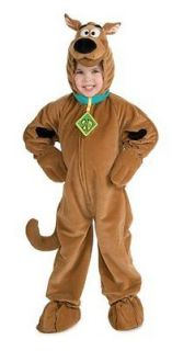 Child Boys Girls Deluxe Scooby Doo Plush Halloween Costume, Medium
