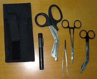 EMS PARAMEDIC KIT with SHEARS KELLY FORCEP PENLIGHT HOLSTER POUCH