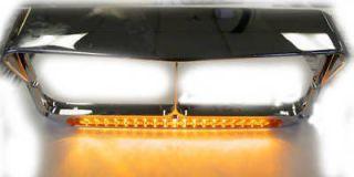 14 led headlight bezel w visor peterbilt kenworth fl we