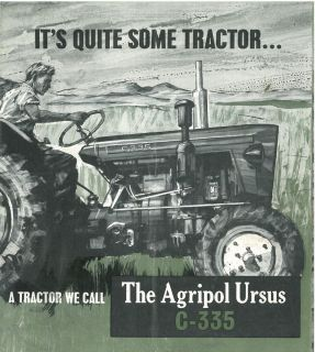 ursus tractor c 335 brochure m3 c 335 c335 time left $ 11 90 buy it