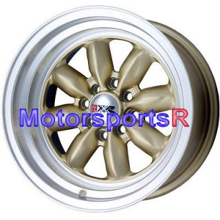 16 16x8 XXR 513 Gold Rims Wheels Deep Dish Lip 4x100 83 84 87 88 91