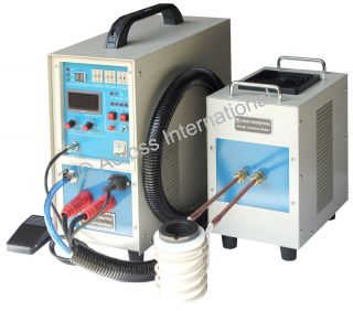 15KW 30 80KHz Dual Station MidFrequency Induction Heater Heating