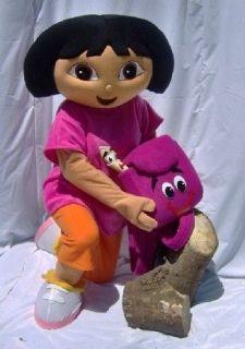 NEW EXPLORER GIRL DORA CARTOON MASCOT COSTUME FANCY DRESS DORA