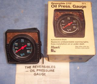 Hawk Auto Engine Oil Pressure Racing Performance Tester Gauge #371