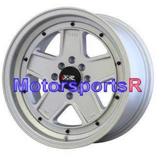 15 15x8 XXR 532 Flat Silver Wheels Rims Deep Dish Lip 4x100 83 84 91