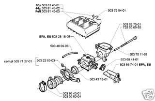 part carburetor husqvarna chainsaw 362 365 372
