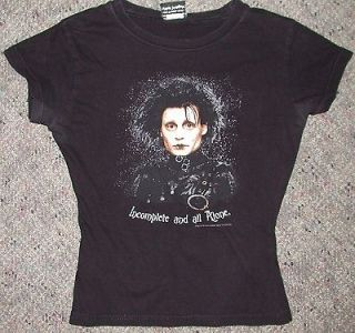 Girls Jrs Womens Vintage Edward Scissorhands Johhny Depp Gothic T