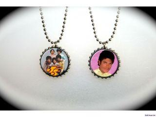 michael jackson jackson 5 2 sided necklace