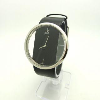 ck calvin klein women s glam black strap watch k94231107