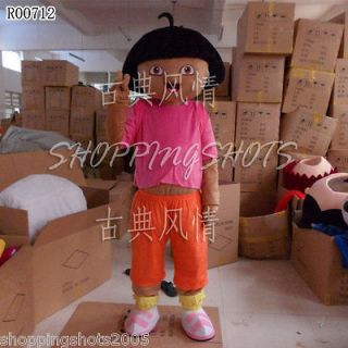 Dora girl women Cartoon Mascot Costume Fancy Dress R00712 adult one