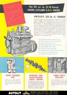 1969 ashok leyland diesel truck engine brochure india time left