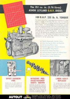 1969 ashok leyland diesel truck engine brochure india time left