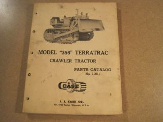 case 356 crawler dozer parts manual time left $ 30