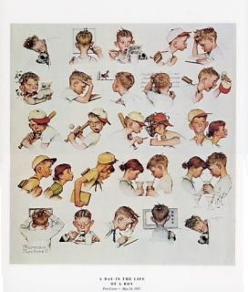 norman rockwell youth print a day in the life of