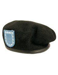 US Army Female Woman Beret Black Wool Felt #398   Size 21
