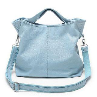 DUDU Womens Ladys Genuine Leather Classic Handbag Tote Shoulder