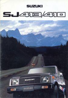 suzuki sj413 410 dutch market 1980 sales brochure from united
