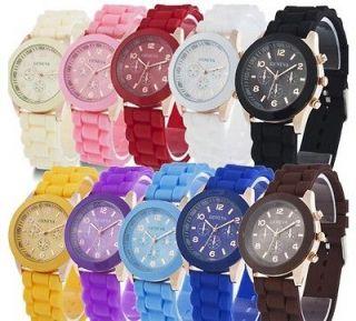 Soft Silicone Classic Gel Wrist Watch Quartz Lady Women Girls