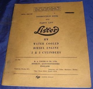 LA036 Lister Petter HW Water Cooled Diesel Engine 2 & 3 Cyl