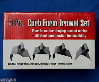 Piece Landscaping Curb Form Hand Finishing Trowels. Concrete Curbing