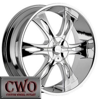 22 Chrome Nemesis Wheels Rims 6x139.7 6 Lug Escalade Tahoe Yukon