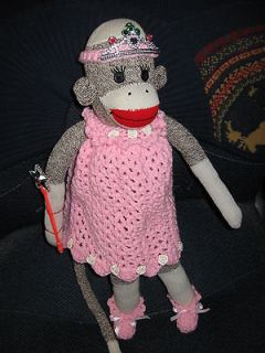new red heel rockford sock monkey princess