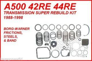 A500 42RE 42RH 44RE SUPER REBUILD KIT BORG WARNER FRICTIONS STEELS