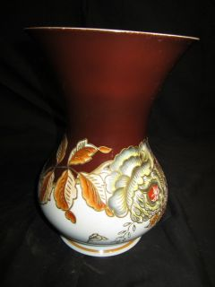 1926 1953 Antique SchauBach Kunst Porcelain Vase Hand Painting & Rose