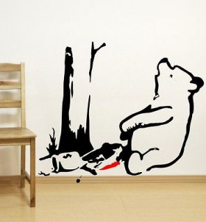 Bear Trap (Banksy Style)   Vinyl Wall Art Stickers Decals Vinyl