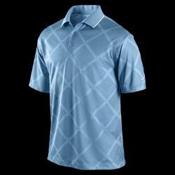 Nike Dri FIT UV Argyle Jacquard Mens Golf Polo