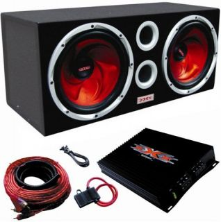 Dual 12 Subwoofer Package Complete System w Amplifier