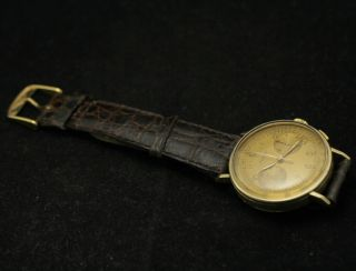 Vintage Longines Chronograph Cal 13ZN 18K Solid Yellow Gold Men Watch