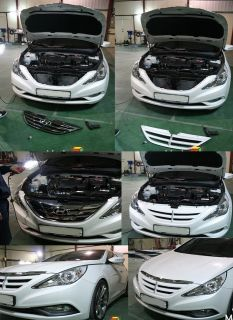 2011 2012 2013 Sonata I45 Front Radiator FPS Grille Painted