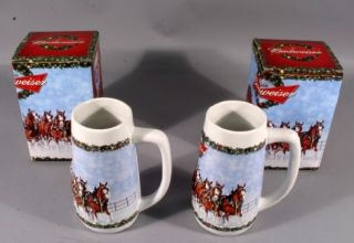 2009 Budweiser Limited Holiday Steins