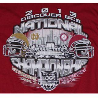 2013 Discover BCS National Championship T Shirt Alabama vs Notre Dame