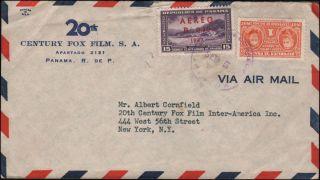 20th Century Fox Ad Cover from Panama to NY