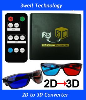 2D to 3D Conversion Signal Video Converter Box For TV Blue Ray DVD PS3