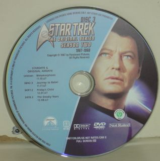 Star Trek The Original Series Season Two   Disc Number 3 Only