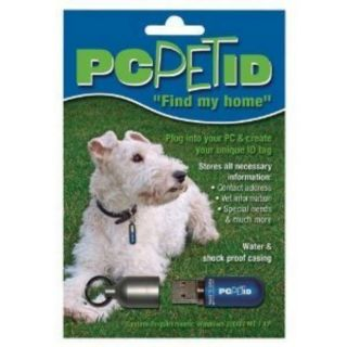 PC Pet Digital ID Dog Cat Tag 64MB Flash Drive Unique