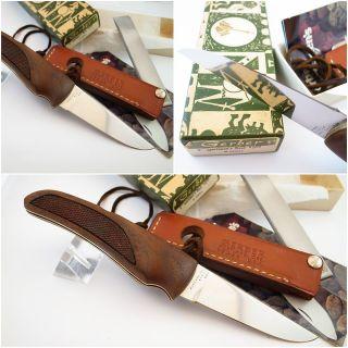 "60's Vintage Gerber Hunter Folding Knife w New in Box 5"" Sharpened"