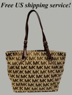 Michael Kors Logo E w Signature Jacquard Tote Bag Purse MSRP$168 x