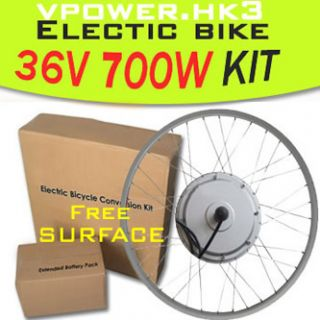 36V 700W 26 Front Wheel Electric Bicycle Motor Kit E Bike Cycling